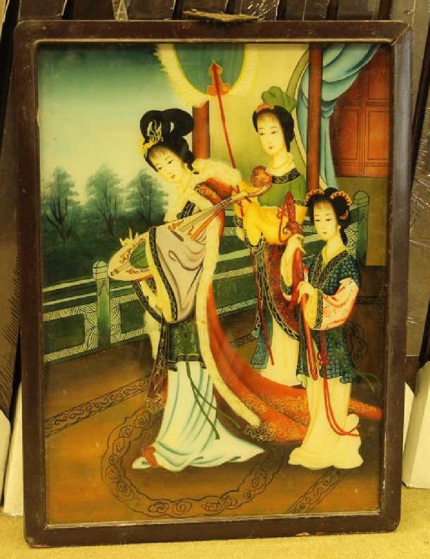 Chinese Reverse Painted Scene