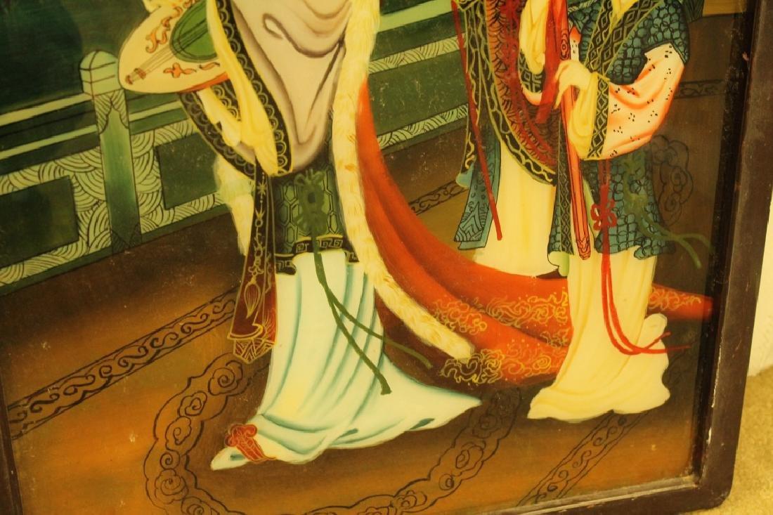 Chinese Reverse Painted Scene - 2