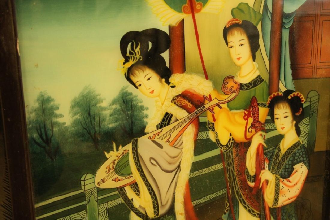 Chinese Reverse Painted Scene - 3