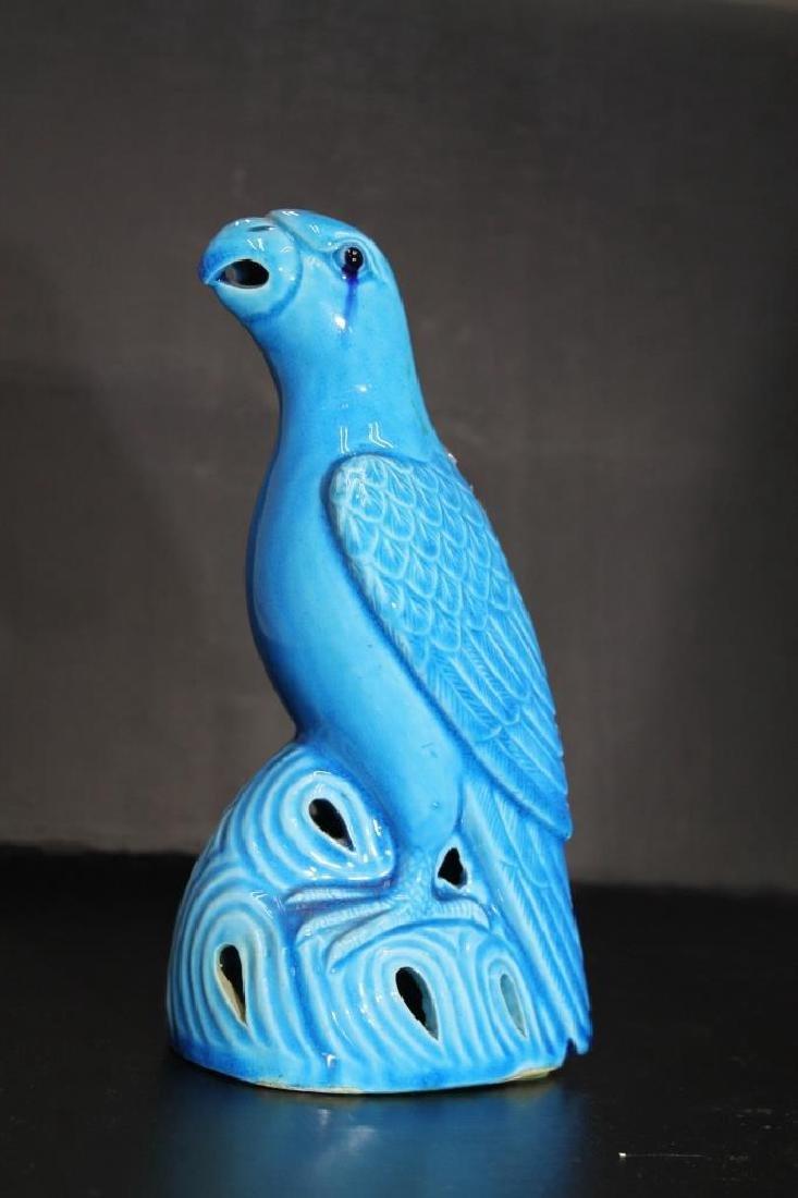 Chinese Glazed Porcelain Bird