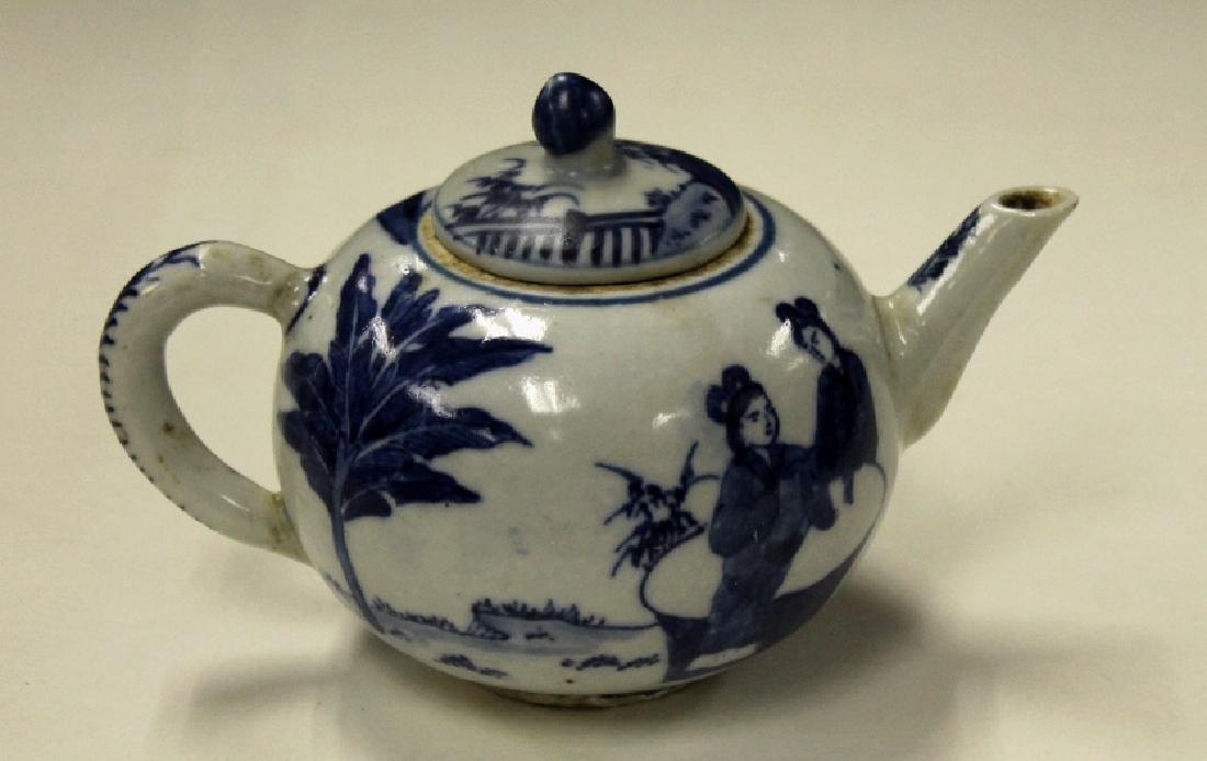 Chinese B&W Teapot - 2