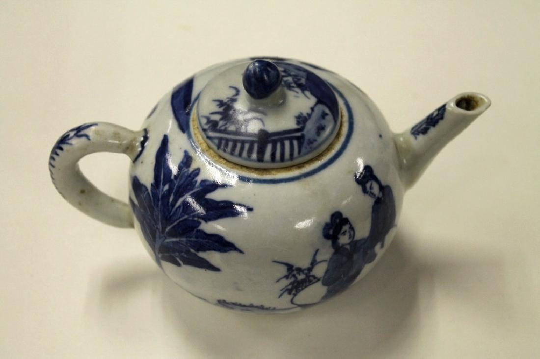 Chinese B&W Teapot - 3