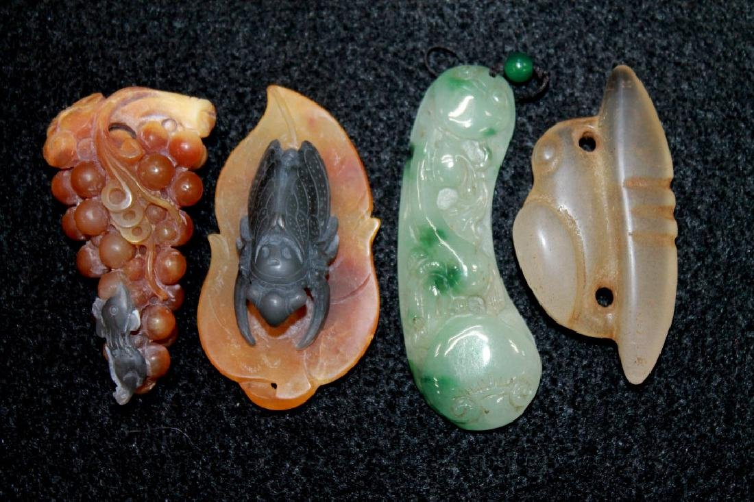Grouping of Jade & Stone Carvings