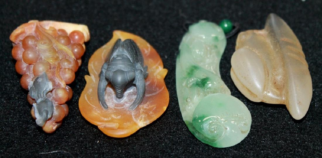 Grouping of Jade & Stone Carvings - 2