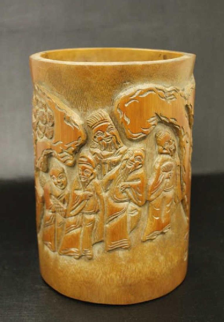 Bamboo Carved Brushpot