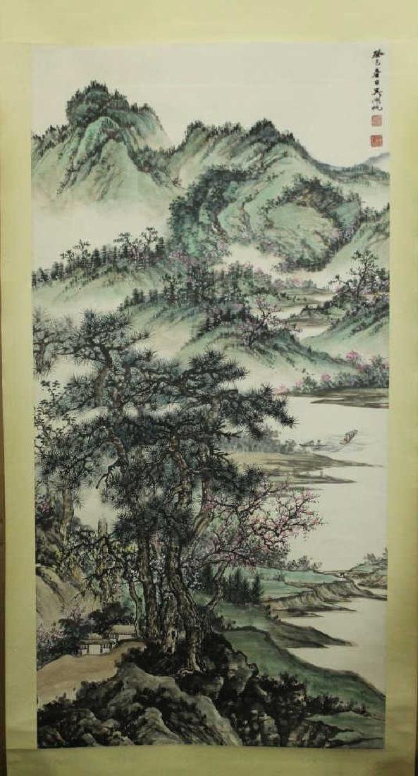 Chinese Scroll Painting - Landscape