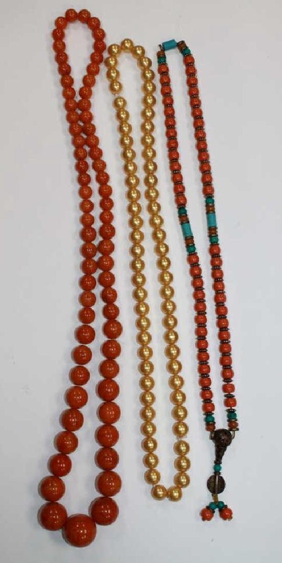 Lot of 3 Chinese Necklaces