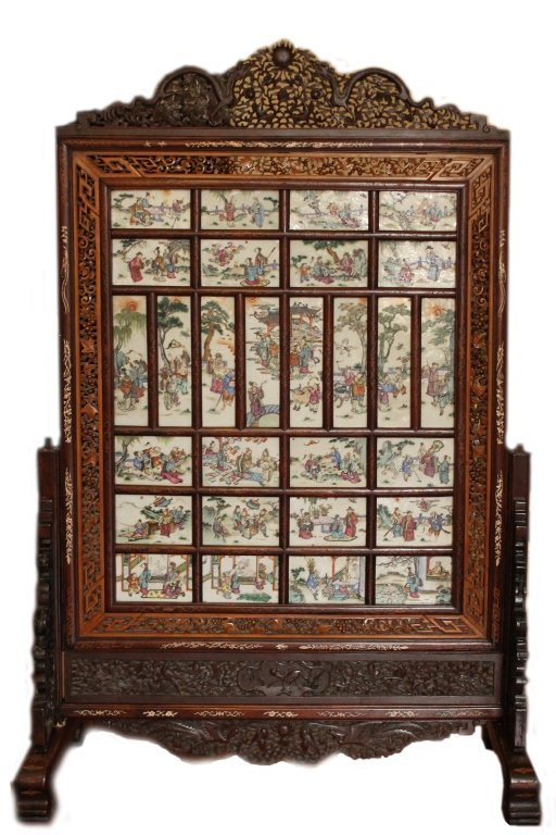 Large 18th Century Porcelain Screen