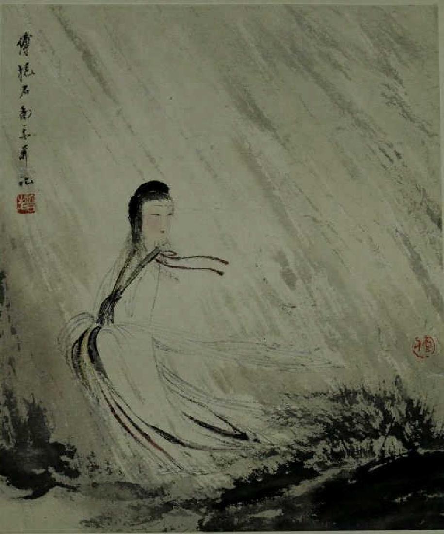 Chinese Watercolor Painting- Fu Baoshi