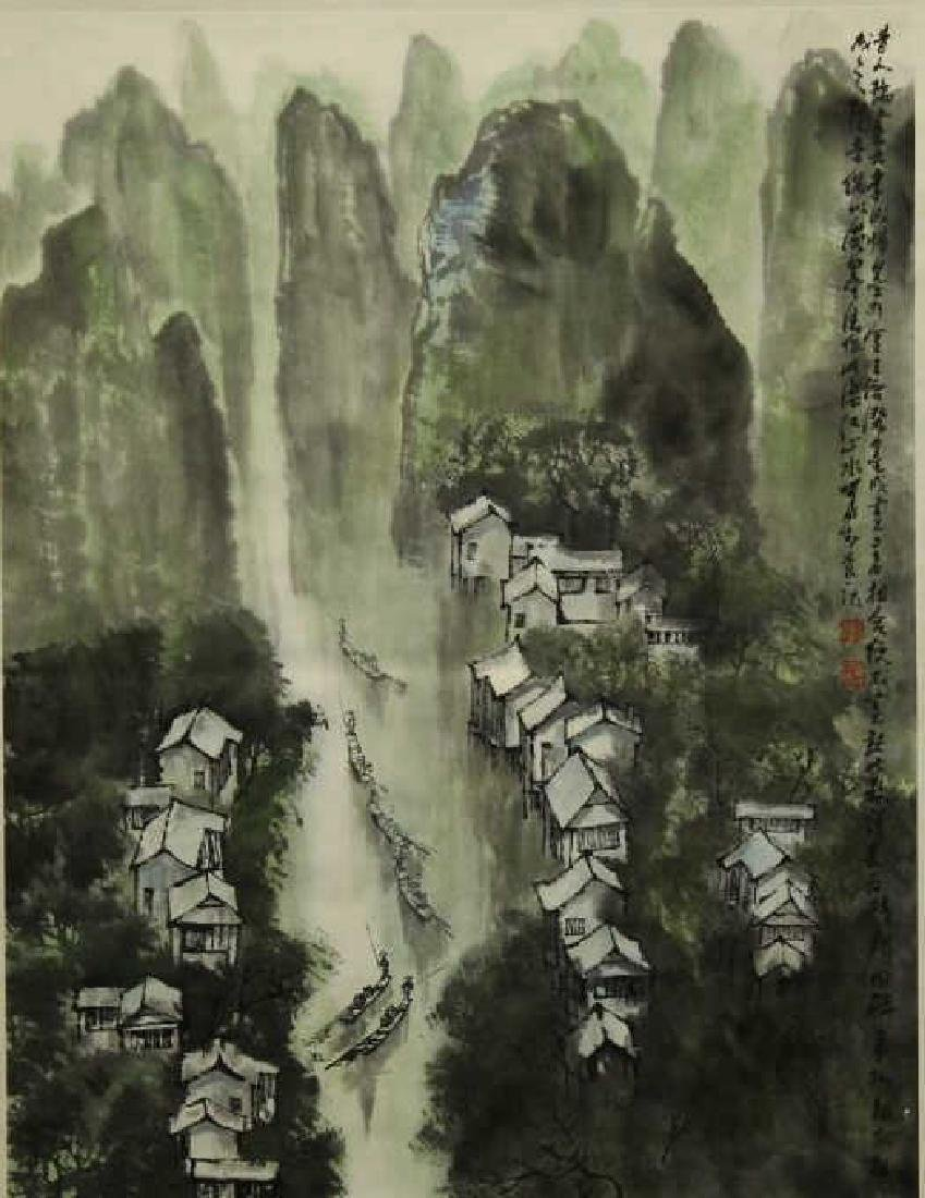 Chinese Watercolor Painting - Landscape