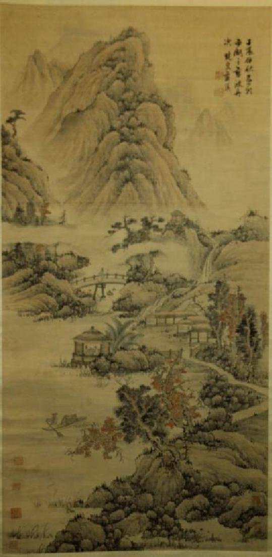 Chinese Scroll Watercolor Painting-Lan Yin