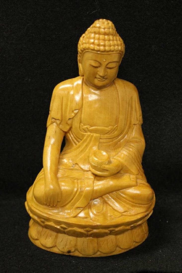 Chinese Glazed Porcelain Buddha