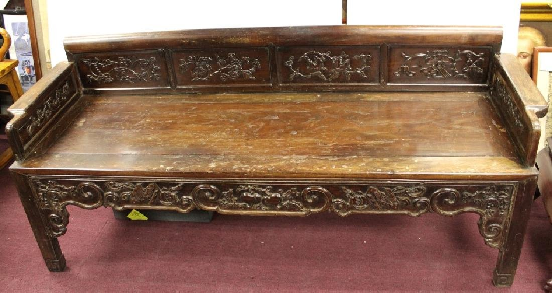 Chinese Rosewood Luo Han Bed