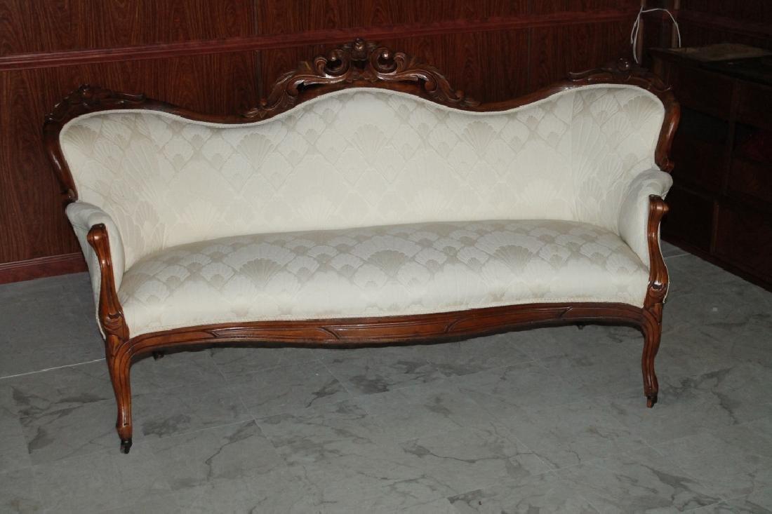 Wood White Sofa