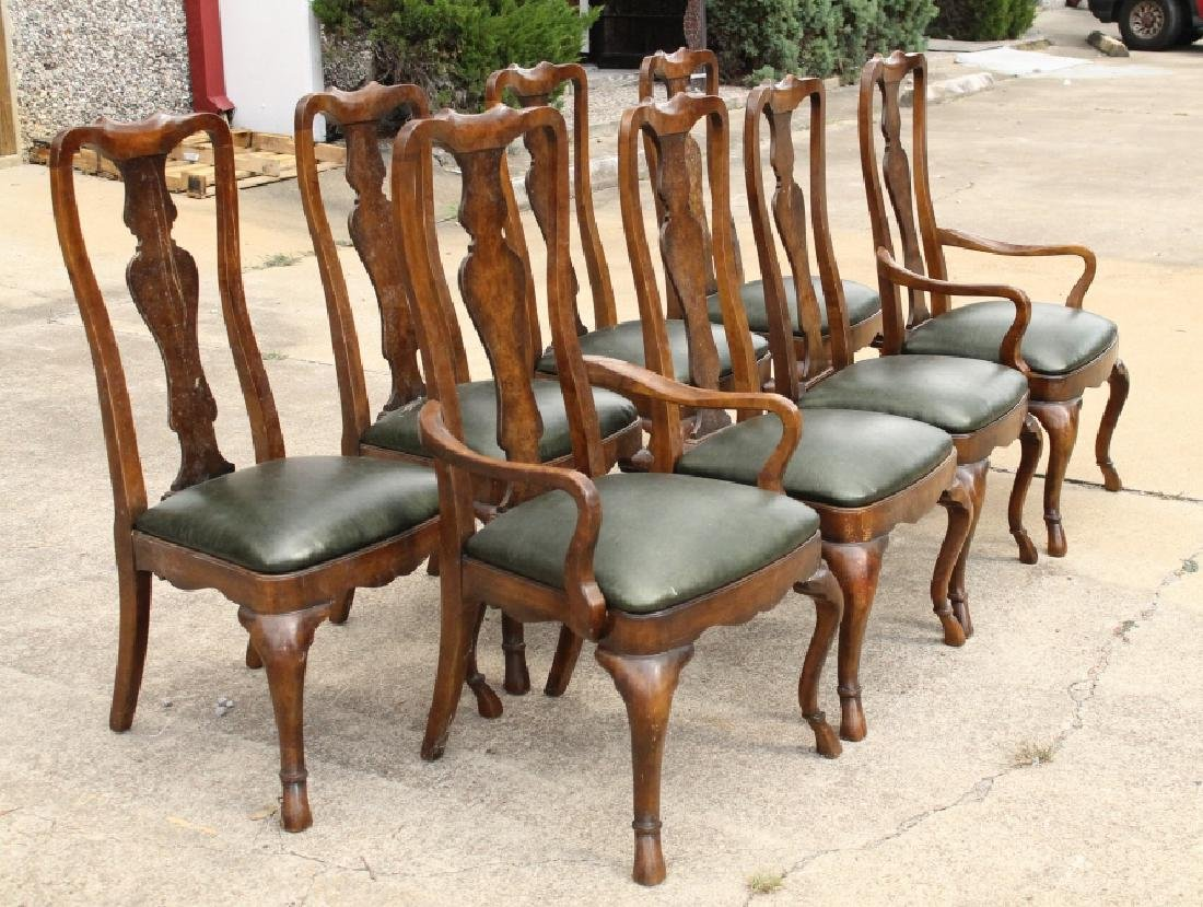 Set of 8 Wood Chairs