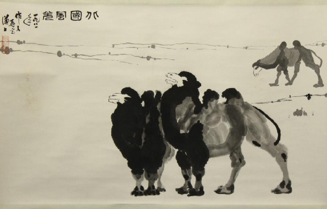 Chinese Painting - Camels