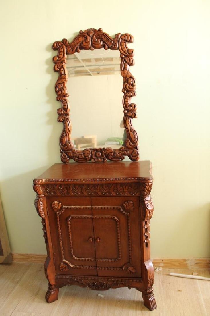 Hardwood Mirror Cabinet