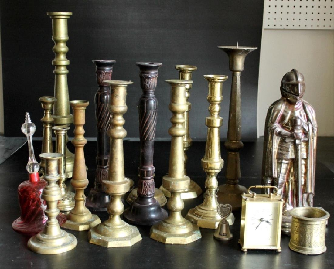 Grouping of Candlestands & Decorative Elements