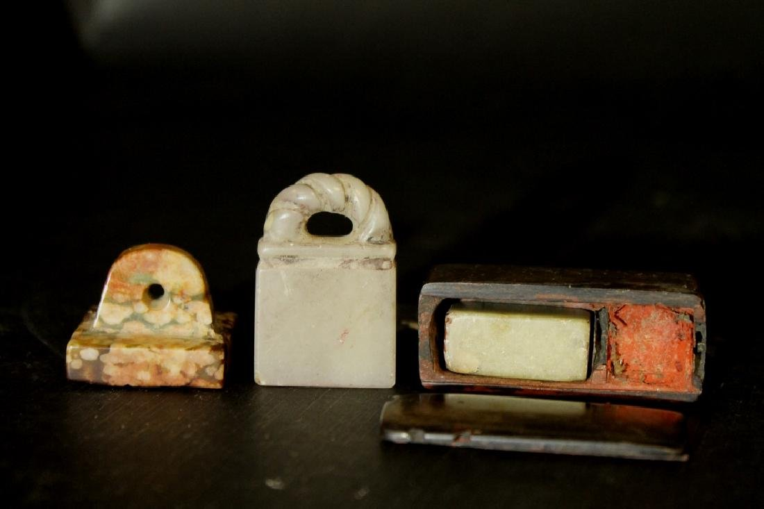 Lot of 3 Chinese Stone Stamps