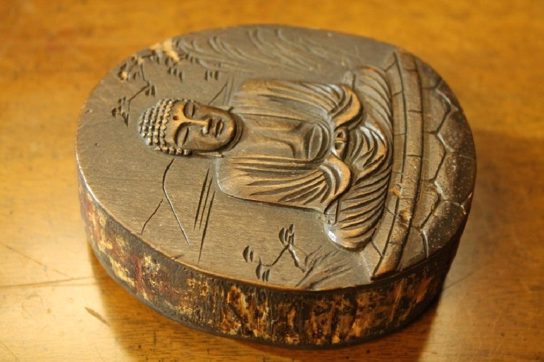 Antique Tibetan Wood Carving