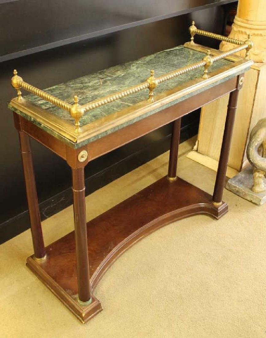 Wood Stand with Marble Top