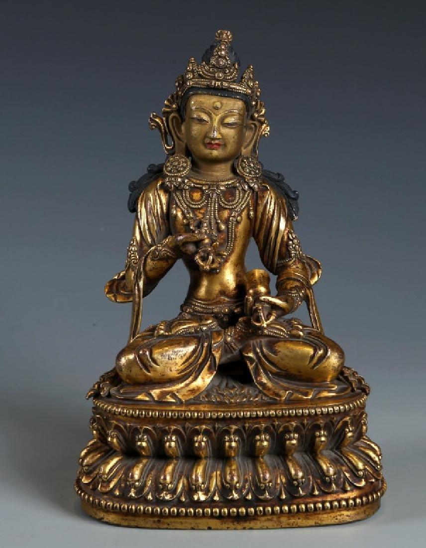 Gilded Bronze Buddha Statue