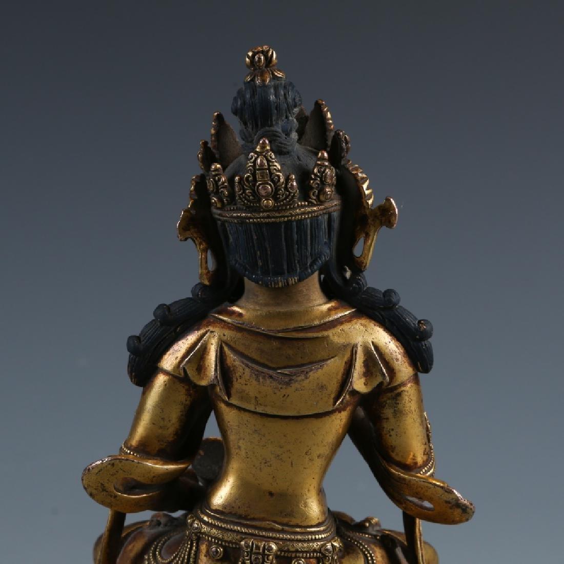 Gilded Bronze Buddha Statue - 2