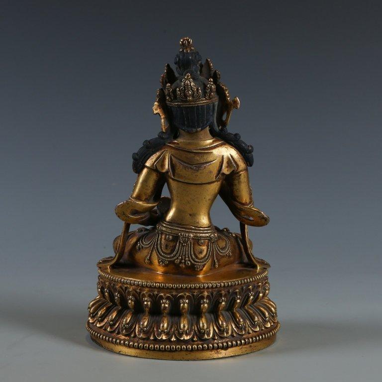 Gilded Bronze Buddha Statue - 4