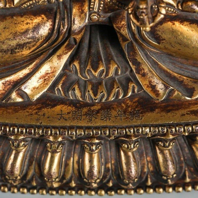 Gilded Bronze Buddha Statue - 6