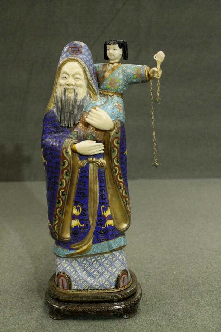 Cloisonne Figure on Stand