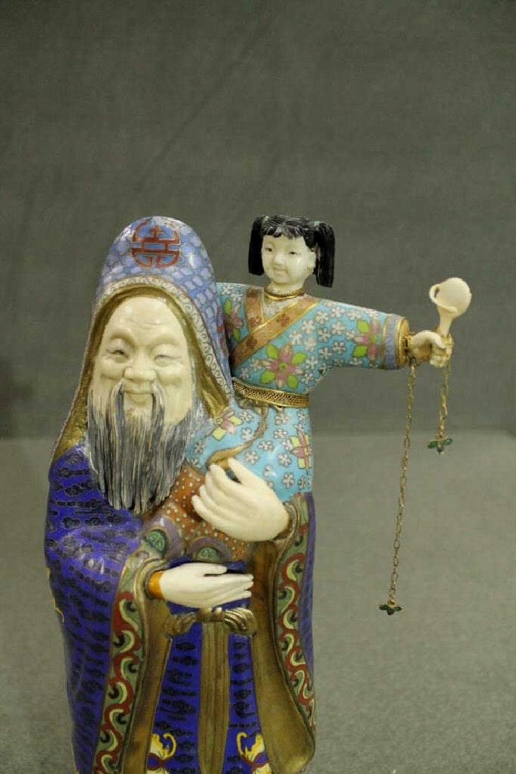Cloisonne Figure on Stand - 2