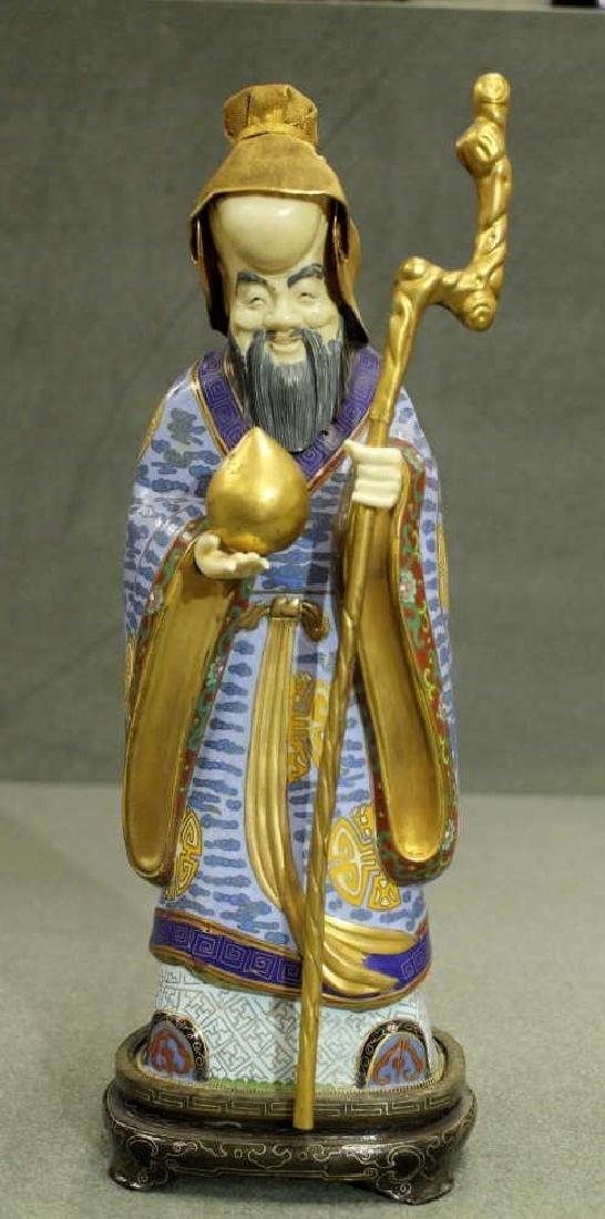 Cloisonne Figure - Longevity God