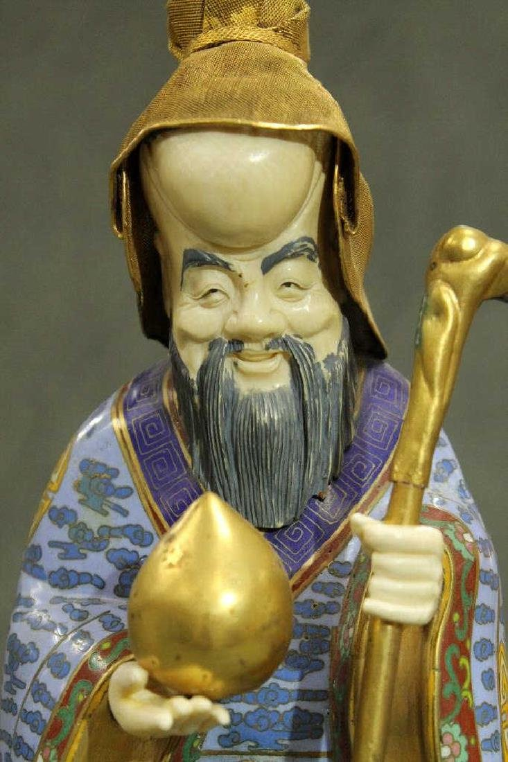 Cloisonne Figure - Longevity God - 2