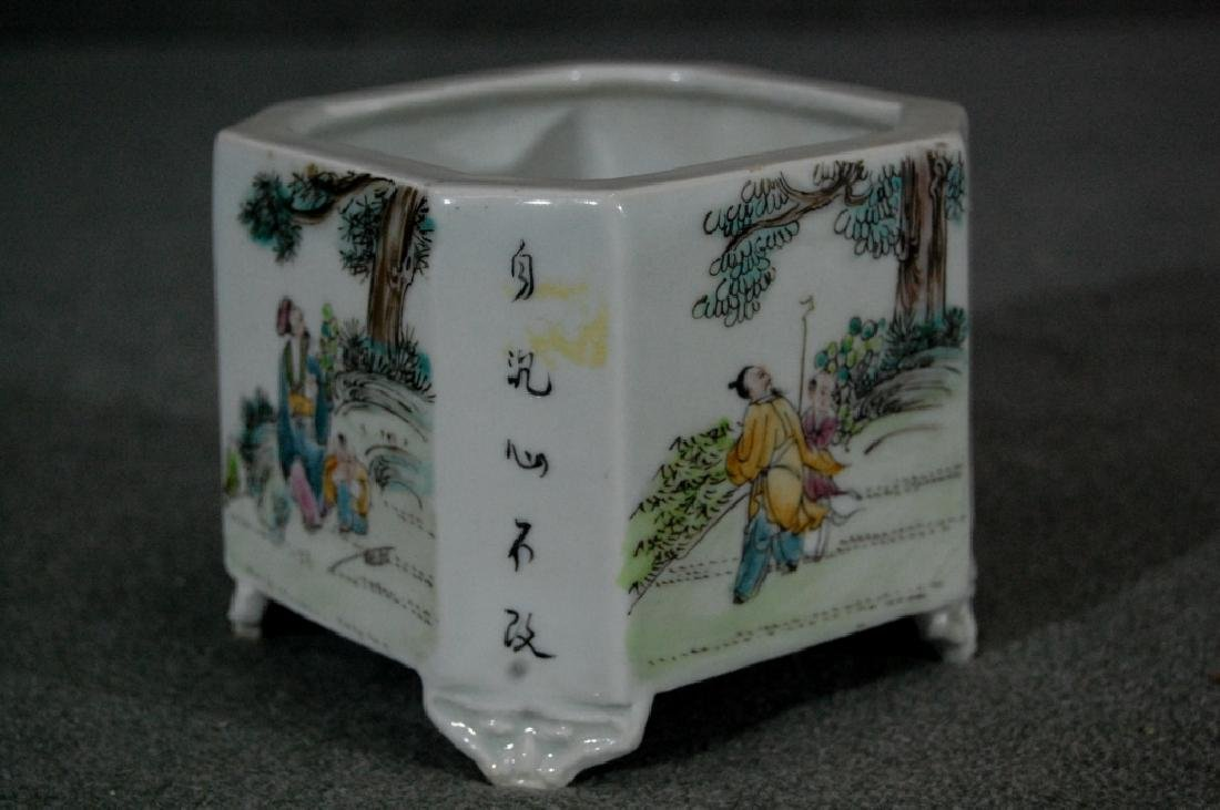 Republic Period Famille Rose Porcelain Flower Pot