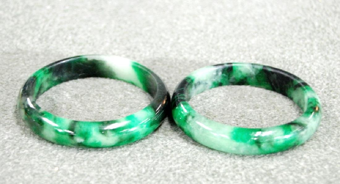 Pair of Jadeite Bangles