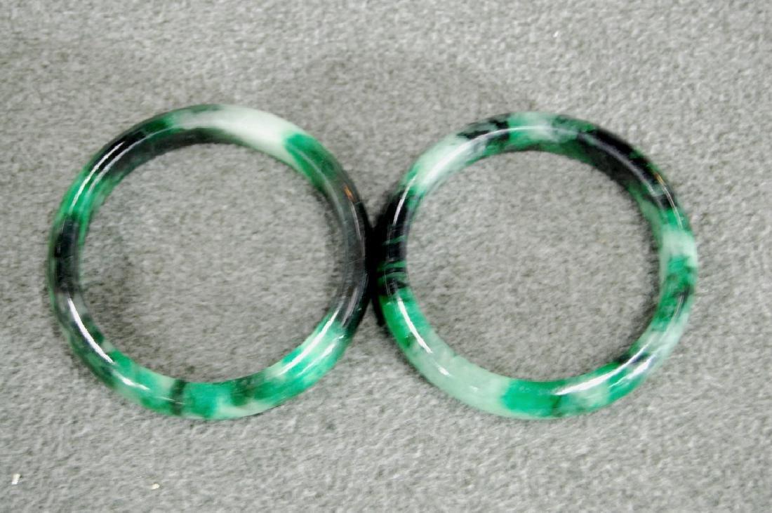 Pair of Jadeite Bangles - 2