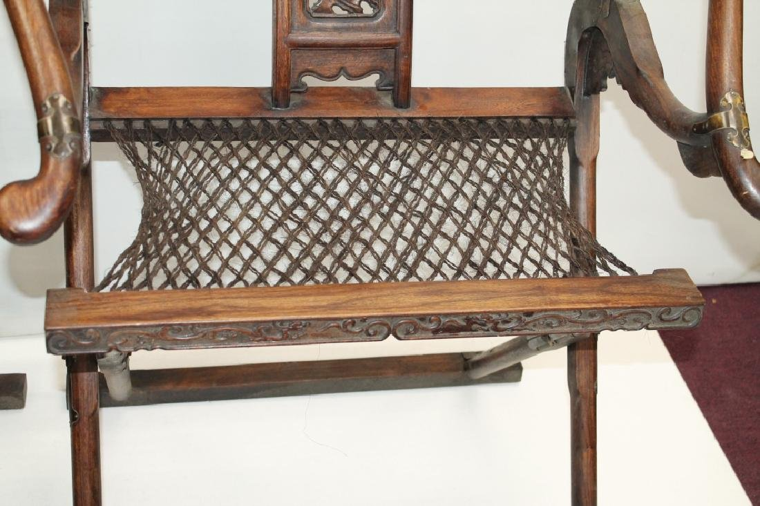 Pair of Chinese Folding Hunter's Chairs - 3