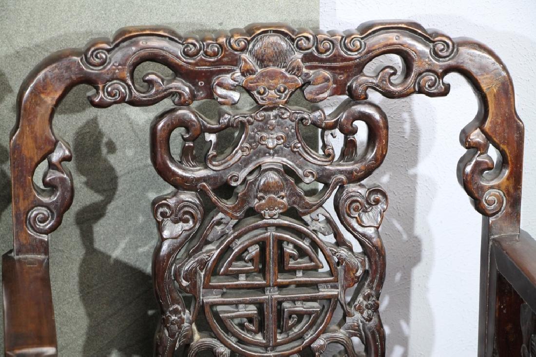 Pair of Hard Wood Chair - 2