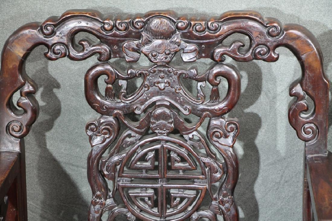 Pair of Hard Wood Chair - 3