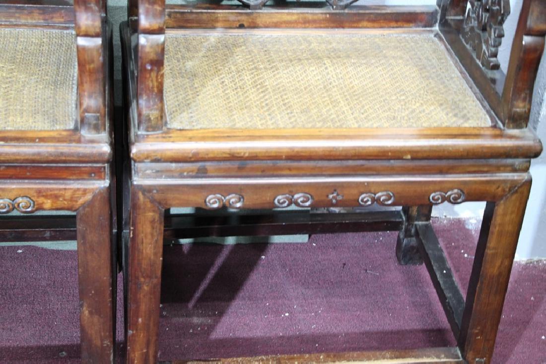 Pair of Hard Wood Chair - 4