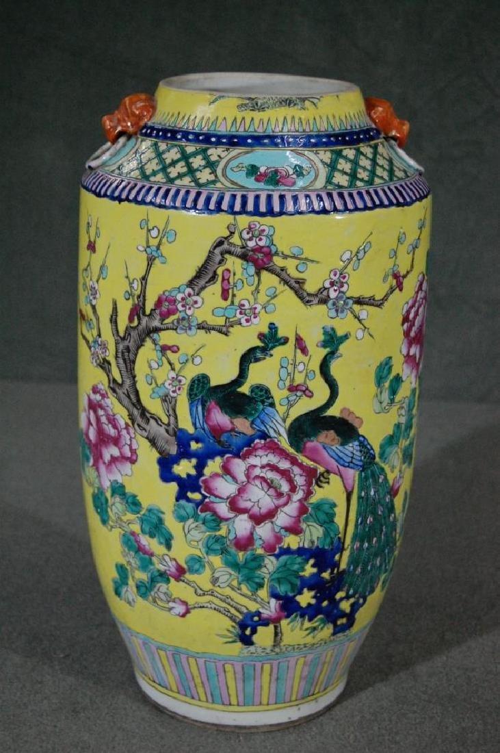 Large Republic Period Fencai Vase