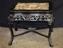 Rosewood Table W Marble Top