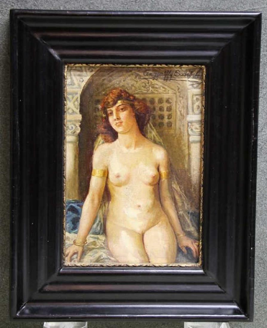 Framed Oil Painting - Elisabeth Angyalffy