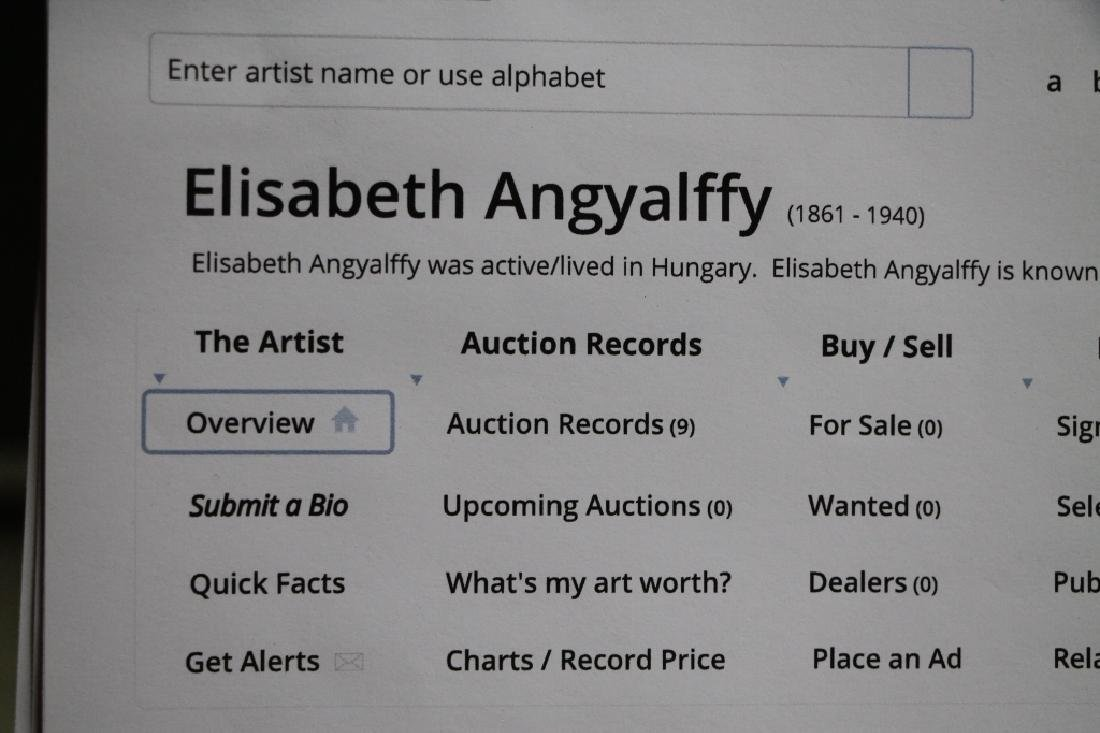 Framed Oil Painting - Elisabeth Angyalffy - 5