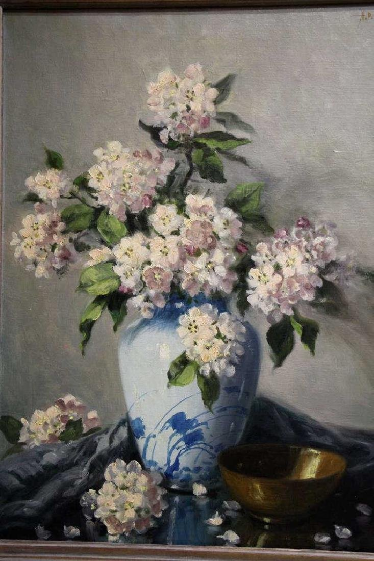 A.D. GREER Oil Painting - Flowers - 2