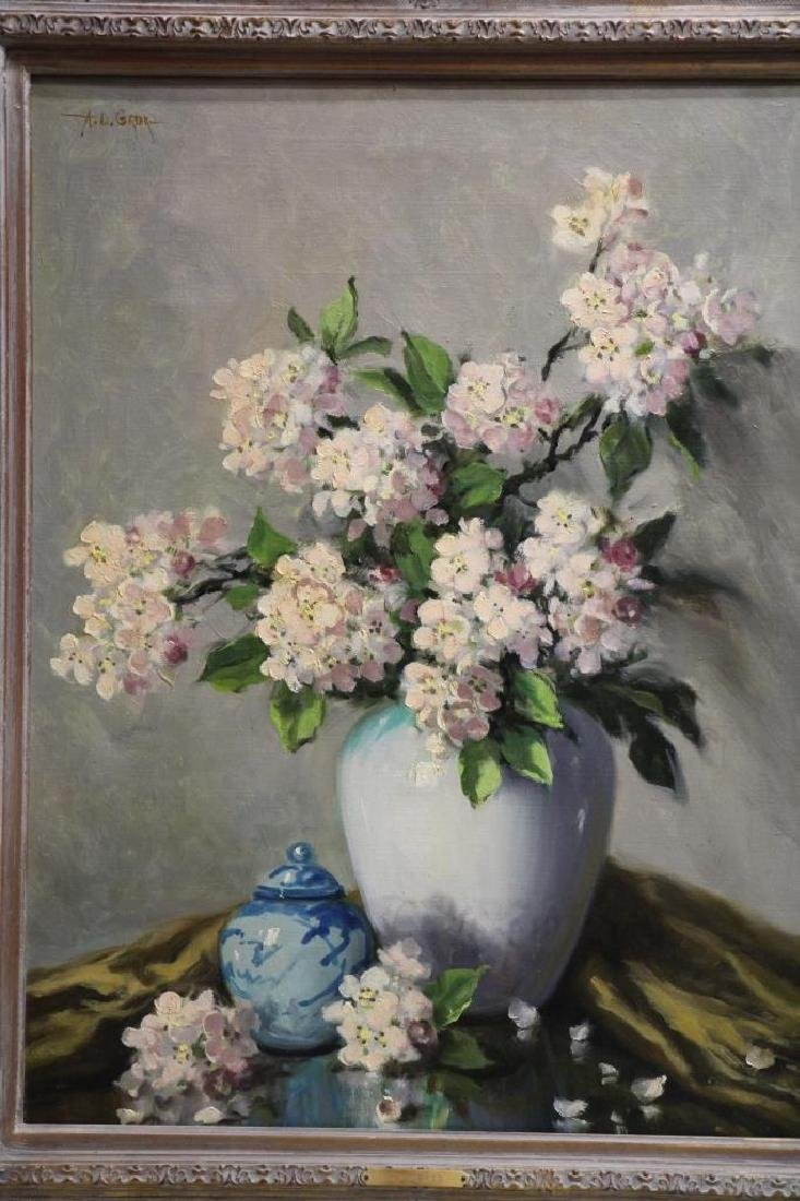 A.D. GREER Oil Painting - Flowers