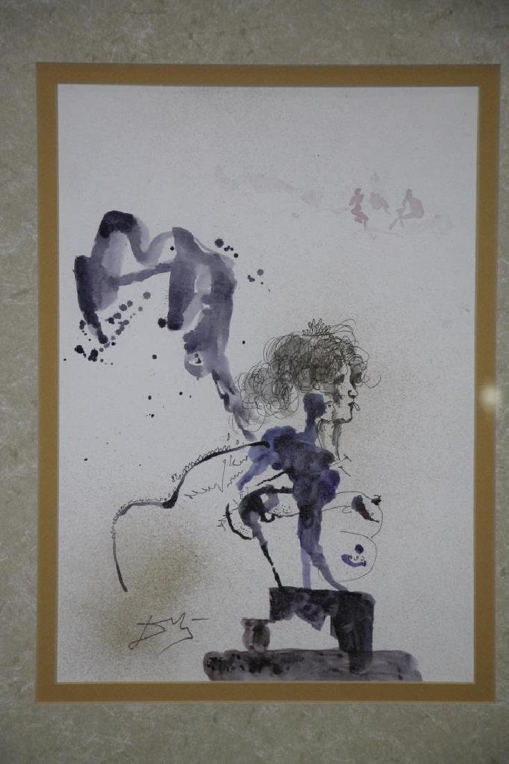 Framed  Watercolor Painting - 2