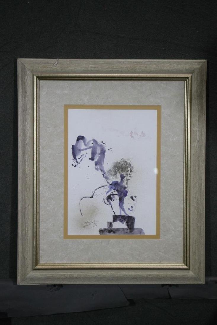 Framed  Watercolor Painting - 3