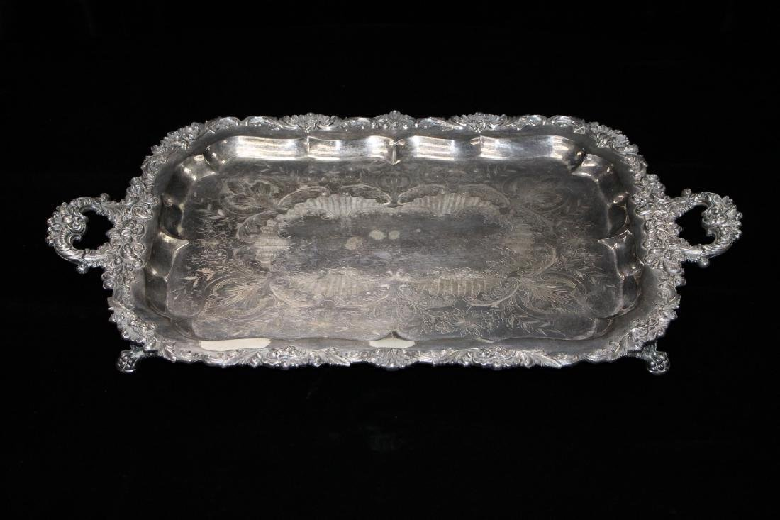 Large Silverplated Serving Tray