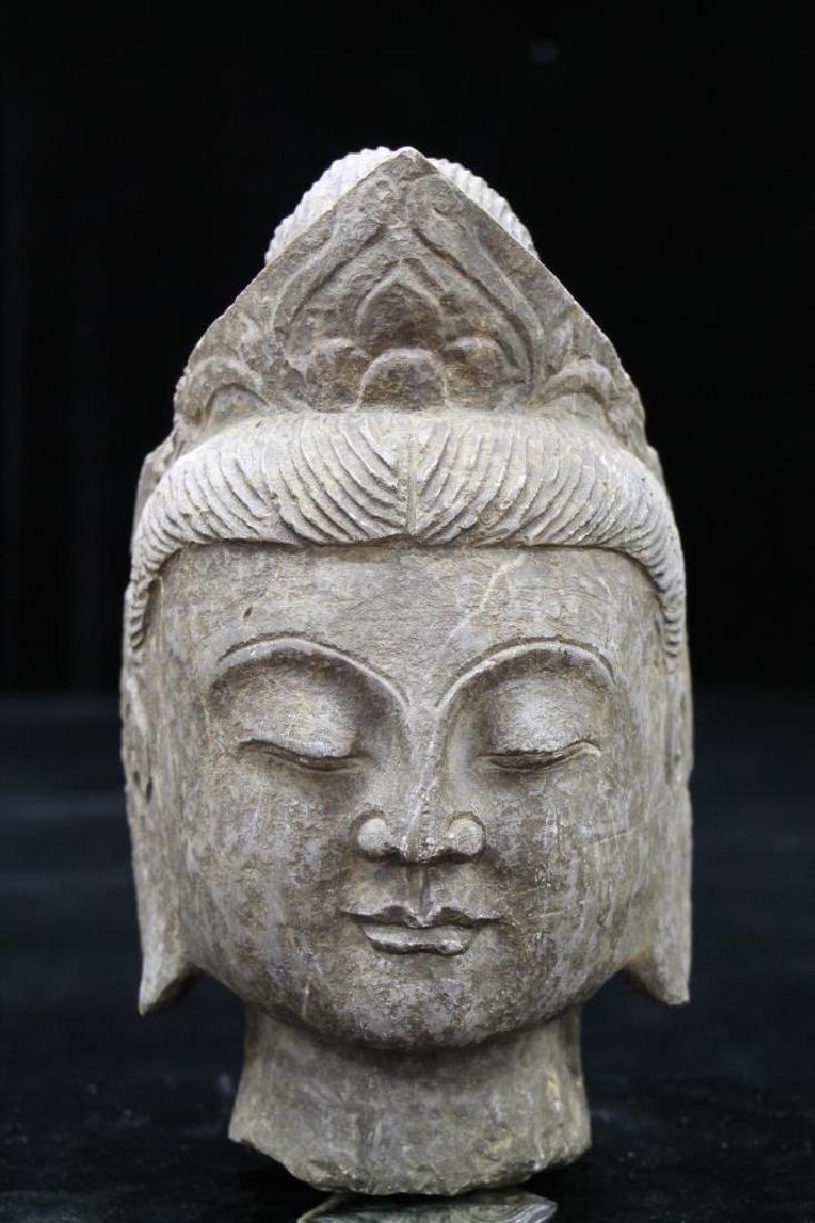 Stone Carved Buddha Head